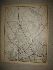 LARGE RARE ANTIQUE 1931 BRIDGEPORT TRUMBULL FAIRFIELD COUNTY CONNECTICUT MAP NR