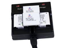 Dual Charger +4x Battery For Olympus Li-90B Li-92B TG5 TG-5 TG-4 TG4 TG3 TG2 TG1