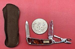 Vintage Kershaw Kai 5600 (3) Blade Multi-Tool Pocket Jack Knife & Case NEAR MINT