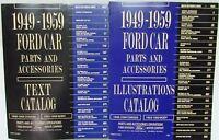1949-1951-1953-1956-1959 Ford Car Parts Book Manual Catalog Fairlane Thunderbird