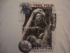 Vintage NCAA Kentucky Wildcats Basketball Final Four 1998 Sports T Shirt Size L