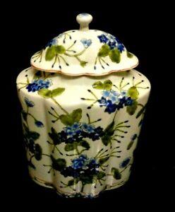 LOVELY  LG.FLORAL VINTAGE Decorative HAND PAINTED FLORAL DES GINGER JAR 10 X 7