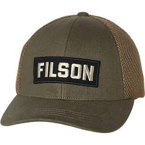 Filson Mesh Logger Cap - Leather Strap Back Hat - Color Olive Brown - NEW!