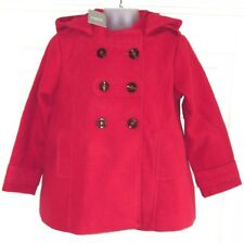 BNWT NEXT GIRLS RED SMART WINTER DRESS COAT 5-6 YRS NEW PARTY CHRISTMAS JACKET