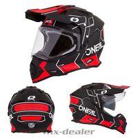2019 o'Neal Sierra II Helmet with Visor Comb Black Red Enduro Supermoto Quad