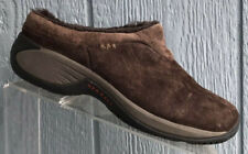 Merrell Encore Ice Bracken Slip On Clog Shoes Womens Size 8 Brown Suede Leather