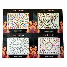 - Large Cards 50 - 70 Bindis Bindis Self Adhesive Indian Forehead Jewelry Ck