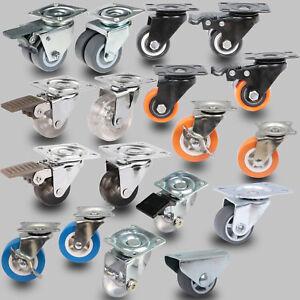 Möbelrollen Lenkrollen Laufrollen Transportrollen Kastenrolle Bremse Doppelrolle