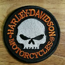 Harley Davidson White Skull Embroidered applique iron on Patch #36
