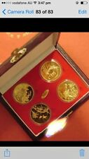 china 4pc mei lan zhu jv 4 blessing medal coin set