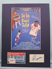 """Spike Lee's """"Do the Right Thing"""" signed by Danny Aiello aka Sal Fragione"""