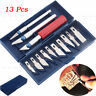 13Pcs Exacto Style Hobby Knife w/Blades Set For Multi-Purpose Crafts Art SAQ