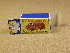 ORIGINAL BOX FOR LESNEY MATCHBOX # 57 LAND ROVER FIRE ENGINE