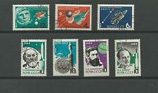 RUSSIA SC 2883 - 2889 ROCKET THEORY 2 SETS /6 PERF AND IMPERF  / USED - CTO 1964