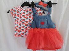 Completi rosso per bambina da 0 a 24 mesi 100% Cotone