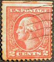 Very Rare George Washington Red 2 Cent Cancelled Postage Stamp