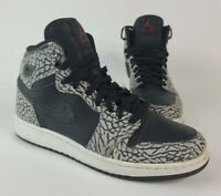 Jordan Nike Kid Air 1 Retro High Black Gray Elephant Size 7Y 838850-013