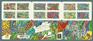 FRANCE 2016 SC# 5066-5077 Yv BC 1300 FLOWERS BOOKLET (CARNET) OF 12 STAMPS MNH