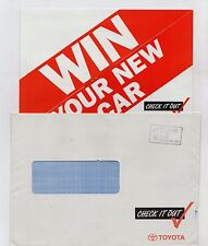 Toyota Check It Out Competition 1992 UK Market Brochure Corolla Carina Celica