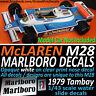 F1 Collection McLaren M28 MARLBORO Decals Löwenbräu Tambay 1979 1/43 scale