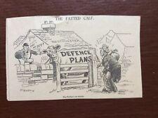 B9f Ephemera 1936 Original Cartoon Middleton Defence Plans
