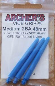 "10 Sets (10X3) Archers Vice Grip ""Blue"" Medium Dart Stems/Shafts (48mm,2ba)"