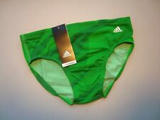 ADIDAS Green Infinitex Plus Shock Energy Swim Brief Swimsuit NWT Size 30
