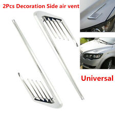 2x Car Shark gill cover fake Side Decorative Air Vent Fender Flow Grille Sticker