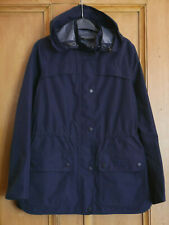 £159 Ladies Barbour navy waterproof hooded rain jacket UK 10 US 6 EU 36