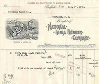 1905 National India Rubber Company Buffalo NY Illustrated Billhead