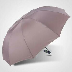 Large Umbrella Men/women 60 Inch Three Folding Anti-uv Windproof Rain FREE SHIP!