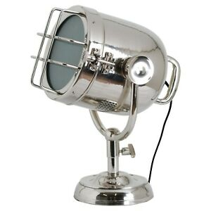 Industrial Style Spotlight Silver Nickel Bedside Hall Large Table Light Lamp