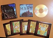 Myst & Riven The Sequel to Myst. 5 Disc Mystery Adventure PC Game Lot Set
