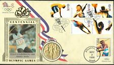 Tessa Sanderson Olympic Cover 1996 With Coin.