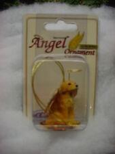 GOLDEN RETRIEVER puppy DOG ANGEL ORNAMENT Figurine Statue NEW Holiday Retreiver