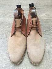 Peter Werth London Nesbitt Chukka Leather Suede Tan Beige Desert Boots Size 10