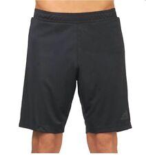 Adidas Hombre Entrenamiento Pantalón Corto Negro Nuevo con Etiqueta AP1251