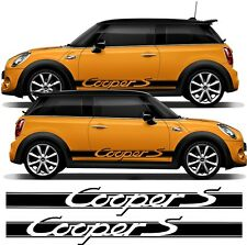 BMW Mini Cooper Cooper S stripes fits modern & old  decals stickers  any colour