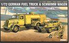 Academy 13401 1/72 GERMAN FUEL TRUCK & SCHWIMM WAGEN Vehicle Series-3 NEW