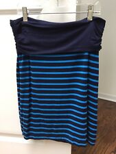 Gap Womens Small Navy & Blue Elastic band Stripe Knit Skirt