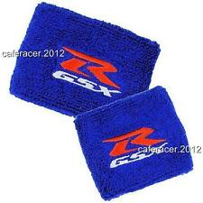 SUZUKI GSXR reservoir Socks Brake/Clutch Fluid Tank cup cover 600 750 1000 Bleu