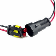 Waterproof 2 Pins Way Electrical Connector Plug Pre Wired JEEP ATV Car Golfcart