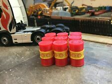 6X 3D Printed  1/50 Scale Red & Yellow Oil Barrel , Accessories , Load, Diorama