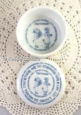 Giftcraft Friendship There Are No Strangers Here Porcelain Trinket Box Mint Cond