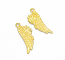 Wholesale 8pcs Tibet silver Angel Wings Charm Pendant beads Jewelry Making DIY _