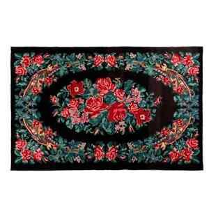 5.8x8.8 Ft Vintage Bessarabian Kilim, Floral Handwoven Wool Rug from Moldova