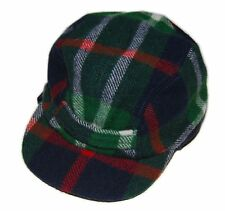 Polo Ralph Lauren Rugby Mens Wool Trappers Hat Cap Plaid Navy Green Red S/M