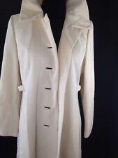 Vtg Womens Ilgwu Union Usa white full Length Spring Coat jacket Classic