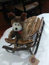 "New ListingVtg Boyds Bears Ewell 9127 Moose Reindeer Winter Christmas Antlers Ret 8"" W/Tag"