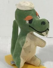 Dakin Dream Pets Green Dinosaur Surf Board Sawdust Vintage